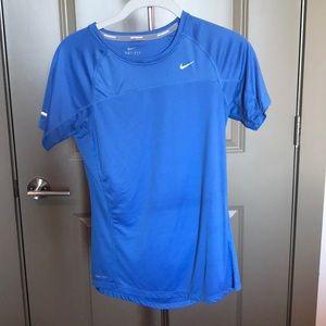 Blue Nike dri-fit tshirt